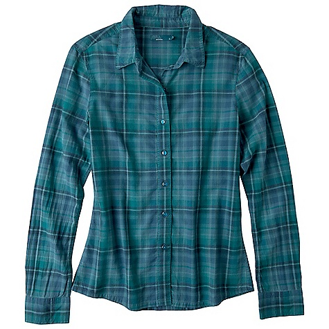 Free Shipping. Prana Women's Riley Woven Shirt DECENT FEATURES of the Prana Women's Riley Woven Shirt Organic yarn-dye plaid Contrast pic stitch at placket, collar and sleeve hem Standard Fit The SPECS Fabric: 100 Organic Cotton - $59.95