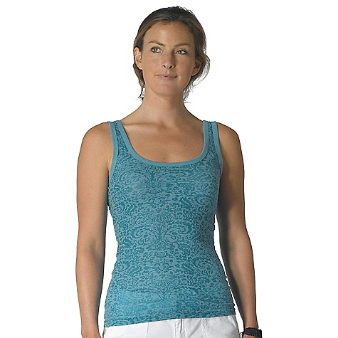 Surf On Sale. Prana Women's Ally Tank DECENT FEATURES of the Prana Women's Ally Tank Lightweight thermal fabrication All over burnout 1x1 rib knit trim Pop colored ladder stitch at side seams Inside printed neck label for comfort The SPECS Fabric: 65% Polyester / 35% Cotton - $17.99