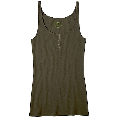 Surf On Sale. Prana Women's Janey Tank DECENT FEATURES of the Prana Women's Janey Tank Organic cotton rib Henley tank Dyed to match twill tape at front placket with ring snap closure Solid colors offered to complete every four way The SPECS Fabric: 100% Organic Cotton - $21.99