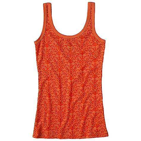 Surf On Sale. Prana Women's Ally Tank DECENT FEATURES of the Prana Women's Ally Tank Lightweight thermal fabrication All over burnout 1x1 rib knit trim Pop colored ladder stitch at side seams Inside printed neck label for comfort The SPECS 65% Polyester 35% Cotton - $17.99