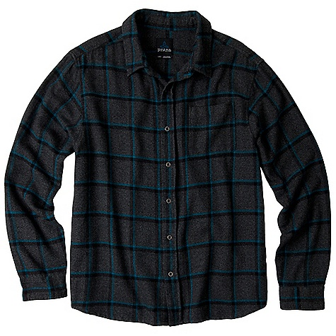 On Sale. Free Shipping. Prana Men's Dutchman LS Top DECENT FEATURES of the Prana Men's Dutchman Long Sleeve Top Twisted yarn-dyed flannel plaid over shirt Custom metal buttons at front placket and sleeves Relaxed fit The SPECS 100 Organic Cotton - $37.99
