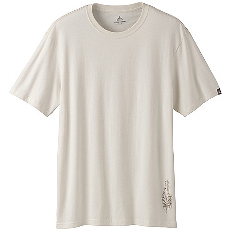 On Sale. Prana Men's Eagle Organic Tee DECENT FEATURES of the Prana Men's Eagle Organic Tee Back shoulder in.Eaglein. screen print with water based ink The SPECS Fabric: 100% Organic Cotton - $20.99
