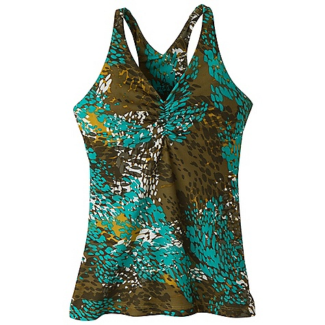 Fitness Free Shipping. Prana Women's Sabin Racer Top DECENT FEATURES of the Prana Women's Sabin Racer Top Veeda fabric V-neck with shirring Racerback Internal shelf bra - $54.95