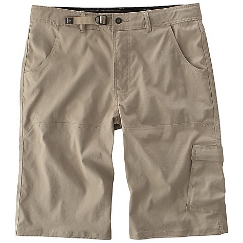 The Prana Men's Stretch Zion Short is a nylon hiking short for exploring the outdoors. The fabric is 97% nylon and 3% spandex, allowing you to move without restriction to the next mile marker. The heat of summer can have you sweating profusely along the way, but the Stretch Zion combats this by wicking moisture away from your skin and drying quickly. The inseam gusset is ventilated to keep you cool and simultaneously providing space. The twelve inch inseam (size medium) stops at the knee for comfort throughout an active summer. An internal belt cinches at the waist and stays out of the way of your harness on a Climbing day. The multiple pockets allow you to carry the essentials, so you can ditch the pack on quick hikes. Just don't forget the water. Features of the Prana Men's Stretch Zion Short The original Stretch 'Zion' fabric with wicking finish Streamlined adjustable waistband system Cut just above the knee Ventilated inseam gusset Mesh pocketing Abrasion resistant Quick drying Stretch fabrication extends, expands and contracts to move with you allowing for ultimate flexibility during any sport, activity or movement Wrinkle-resistant clothing that you can simply take out of the bag, hang and wear. Made with fabric that has stretch and a light-weight feel Moisture management fabrics wick perspiration moisture from the inside out Water resistant, these products keep moisture on the fabric's surface making it easy for the sun and air to lift moisture out and promote evaporation - $47.99