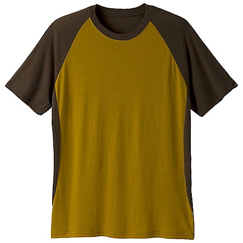 Prana Men's Quest Crew DECENT FEATURES of the Prana Men's Quest Crew Lightweight heathered jersey Contrast color blocking Woven logo labeling Performance Fit The SPECS Fabric: 60 Cotton / 40 Polyester Weight: 3.5 oz - $34.95