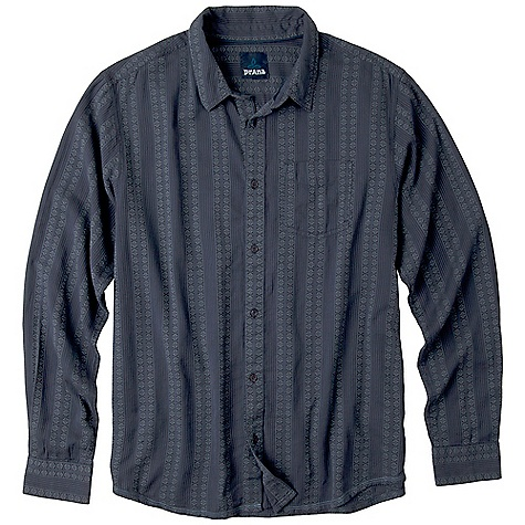 On Sale. Free Shipping. Prana Men's Agave DECENT FEATURES of the Prana Men's Agave Tonal design with Native American stripe jacquard weave Front patch pocket Custom 4-hole buttons with 'Born from the Experience' engraving Front horn logo embroidery Back triangle patch label Standard Fit The SPECS Fabric: 100 Cotton Weight: 4.5 oz - $41.99