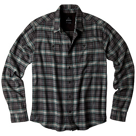 On Sale. Free Shipping. Prana Men's Daniel DECENT FEATURES of the Prana Men's Daniel Flannel yarn dyed plaid Double front chest pockets Back pleats for a comfortable range of movement Custom metal buttons Standard fit The SPECS 100 Organic Cotton - $51.99