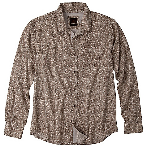 On Sale. Free Shipping. Prana Men's Patterson DECENT FEATURES of the Prana Men's Patterson Printed paisley poplin fabrication Softener wash Contrast check fabrication along inside placket and inside yoke details Pearl snap closure Standard Fit The SPECS Fabric: 100 Cotton Weight: 4.2 oz - $44.99