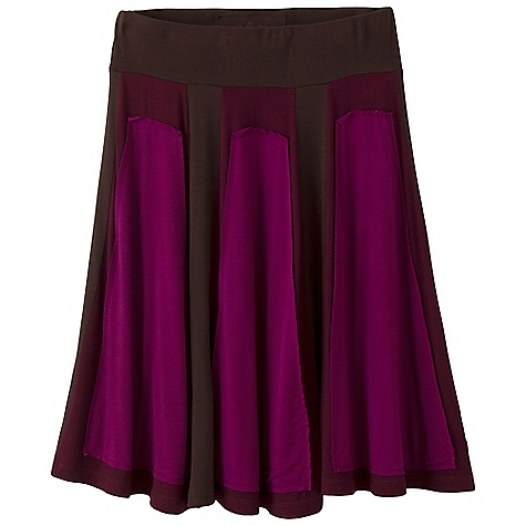 Free Shipping. Prana Women's Kirby Skirt DECENT FEATURES of the Prana Women's Kirby Skirt Color blocked, raw edge panels Elastic waistband and drapey fabric for flattering fit and comfort Size small = 21in. ( 53.3 cm) out seam The SPECS Fabric: 95 Rayon / 5 Spandex - $69.95