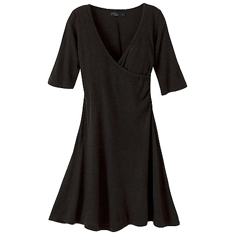 Entertainment Free Shipping. Prana Women's Nadia Dress DECENT FEATURES of the Prana Women's Nadia Dress Wool blend dress Cafe length sleeve Shirring at side seam Size small=36in. (91.4 cm) length from high point shoulder The SPECS Fabric: 70 Acrylic / 30 Wool - $74.95