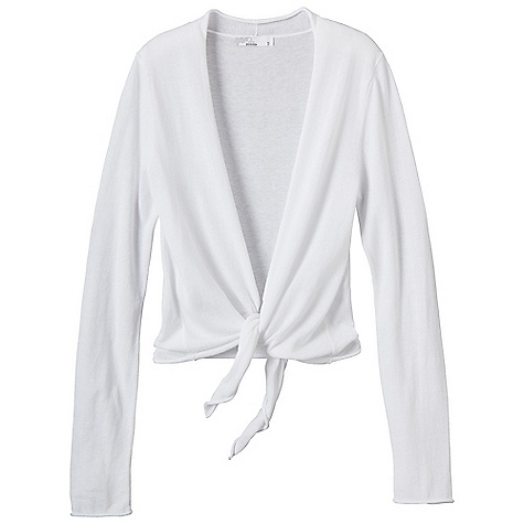 On Sale. Free Shipping. Prana Women's Ginger Wrap Sweater DECENT FEATURES of the Prana Women's Ginger Wrap Sweater Lightweight jersey sweater knit Wrap style that is great over any top as an elegant cover up Simple tie front offers versatility in layering The SPECS Fabric: 100 Cotton - $35.99