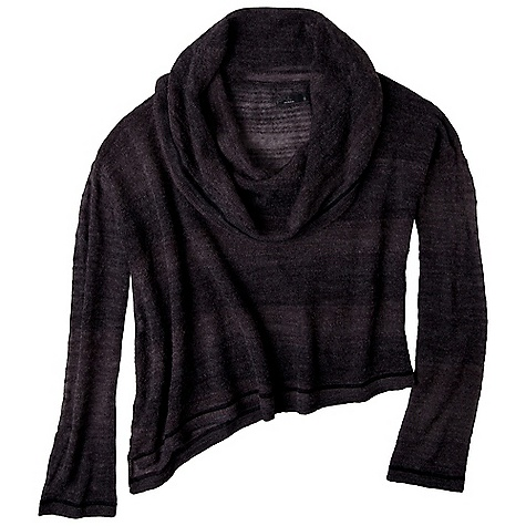 Free Shipping. Prana Women's Nenah Sweater DECENT FEATURES of the Prana Women's Nenah Sweater Ombre stripe, open stitch sweater Oversized cowl collar, dropped shoulder seam, and asymmetrical hem line The SPECS Fabric: 46 Acrylic / 23 Wool / 24 Polyester / 7 Alpaca - $89.95