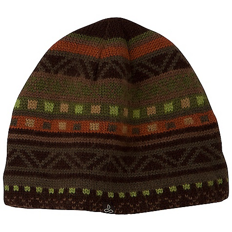 Entertainment Prana Cole Beanie DECENT FEATURES of the Prana Cole Beanie Aztec intarsia knit design Fully fleece lined Standard Fit The SPECS Fabric: 100 Acrylic Shell 100 Polyester Lining - $27.95