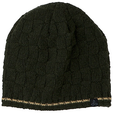 Entertainment Prana Kingsmen Beanie DECENT FEATURES of the Prana Kingsmen Beanie Waffle knit shell Fully fleece lined Pop stripe along hemline Standard Fit The SPECS Fabric: 100% wool - $32.00