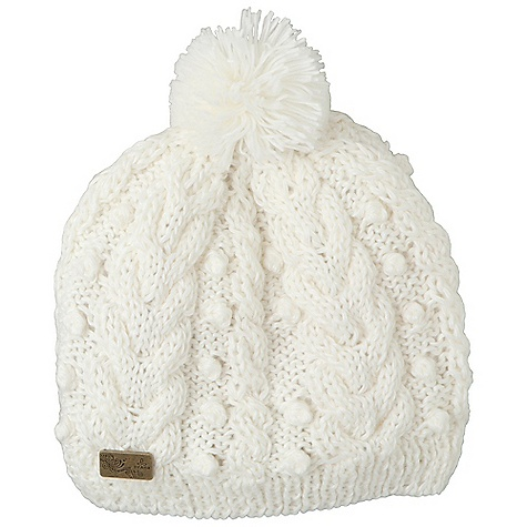 Entertainment Prana Percy Beanie DECENT FEATURES of the Prana Percy Beanie Ultra soft beanie Pom pom top with metal logo tab Slouch Fit The SPECS Fabric: 100 Acrylic - $31.95