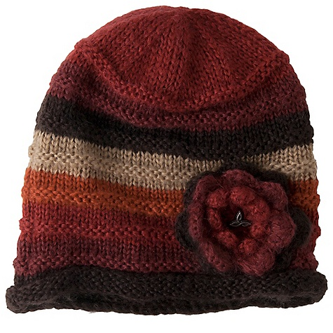 Entertainment Prana Pixie Flower Beanie DECENT FEATURES of the Prana Pixie Flower Beanie Multi-stripe beanie with flower applique Rolled hem Metal logo Slouch fit The SPECS 100 Acrylic - $27.95