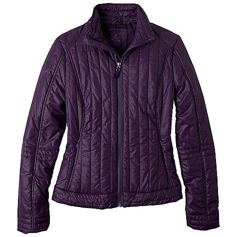 On Sale. Free Shipping. Prana Women's Kasi Jacket DECENT FEATURES of the Prana Women's Kasi Jacket Water-resistant heathered nylon jacket Quilted with Prim aloft 100g fill Zippered pockets Standard fit The SPECS Outer: 100 Nylon Lining and Fill: 100 Polyester - $83.99