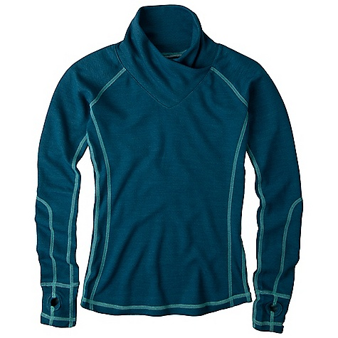 On Sale. Free Shipping. Prana Women's Gillian Pullover DECENT FEATURES of the Prana Women's Gillian Pullover Long sleeve pullover Jacquard plated Merino blend knit with moisture management Thumbholes at sleeve hem Contrast stitching The SPECS Fabric: 70 Polyester / 30 Merino Wool - $73.99