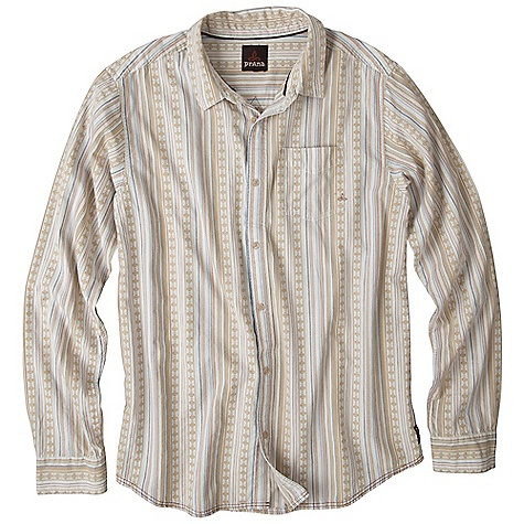 Free Shipping. Prana Men's Clover DECENT FEATURES of the Prana Men's Clover Yarn dyed jacquard fabrication Front patch pocket Back pleats for a comfortable range of movement Standard Fit The SPECS Fabric: 100 Cotton Weight: 4.5 oz - $64.95