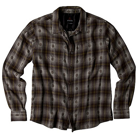 Free Shipping. Prana Men's Hickory DECENT FEATURES of the Prana Men's Hickory Yarn dyed flannel with geometric motif Front patch pocket Relaxed Fit The SPECS Fabric: 100 Cotton Weight: 6.8 oz - $74.95