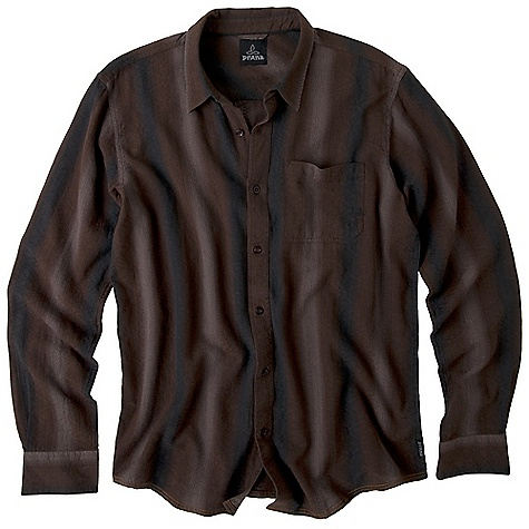Free Shipping. Prana Men's Raintree DECENT FEATURES of the Prana Men's Raintree Yarn dyed dobby fabrication Front patch pocket Front button closure Standard Fit The SPECS Fabric: 100 Cotton Weight: 4.2 oz - $64.95