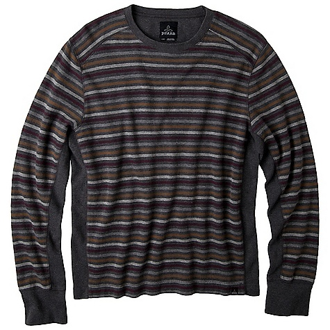 On Sale. Free Shipping. Prana Men's Driftwood Crew FEATURES of the Prana Men's Driftwood Crew Yarn-dye double knit fabrication On seam thumb hole Logo embroidery at back yoke Fibers which meet regulations by the USDA National Organic program, ensuring highest environmental agricultural practices - $43.99
