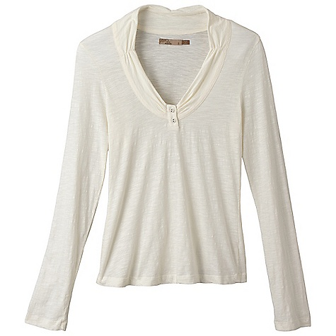 Free Shipping. Prana Women's Vanessa Top DECENT FEATURES of the Prana Women's Vanessa Top Lightweight slub organic cotton jersey Gathered V-neck collar with shirring 2-button placket The SPECS 100 Organic Cotton - $54.95