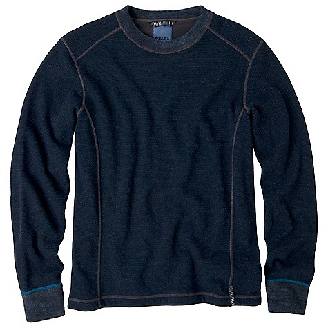 Free Shipping. Prana Men's Owen Sweater DECENT FEATURES of the Prana Men's Owen Sweater Plush marled yarn mini stripe fabrication Reverse side brushed fabrication Standard fit The SPECS 56 Recycled Wool / 24 Polyester / 17 Nylon / 3 Other fibers - $94.95
