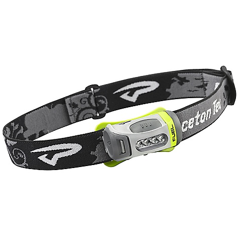 Camp and Hike Princeton Tec Fuel Headlamp The Fuel Headlamp by Princeton Tec amazes the critics. When applied well, technology should be simple- this Princton Tec Headlamp is no exception and such is the case with the innovative Fuel headlamp - designed to meet the widest range of applications while remaining small, lightweight and robust. With all of the touch points of the product being considered, this Princeton Headlamp smart design fulfills technology's promise of actually making our lives easier. Use this Princeton Tec LED next time you get to play in the woods. What could be better than a light that weighs only 78g with 43 lumens of brightness and 146 hours of burn time? A light that also has an asymmetrical single arm bracket that makes directing the light effortless and reliable; a large, easy to find push button switch and a virtually bulletproof, easy access battery door that protects the 3AAAs and its electronics. Yea.. that's pretty much it. SPECIFICATIONS of the Fuel Headlamp by Princeton Power: 43 Lumens Lamp: 4 Ultrabright LEDs Burn Time: 146 Hours Batteries: 3 AAA Alkaline (Included) Weight: 78g With Batteries Weight: 44g Without Batteries High: Total Burn Time 74h Flash: 134h Medium: 120h Low: 164h Distance: 35 Meters Brightness Levels/Modes: 3 Levels, 1 Flash Mode Waterproof Rating: Levels 1 - $29.95