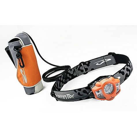 Camp and Hike Free Shipping. Princeton Tec Apex Extreme Headlamp FEATURES of the Apex Extreme Headlamp by Princeton Tec 4 Ultrabright LEDs: The highest quality LED available, the Ultrabright LED is bright and efficient. The smooth, white, wide-beam light emitted by Ultrabright LEDs is ideal for close to mid-range tasks. Ultrabright LEDs are usually grouped together to offer a more powerful light source. Advances currently underway will continue to improve the efficiency and brightness of Ultrabright LEDs. Battery Power Meter: The battery power meter provides you with continuous feedback on the condition of the batteries, indicating high, medium or low battery life. This information allows you to make educated decisions about changing batteries or packing spare batteries. LED Optic Collimator: A collimator gathers all available light from an LED in the form of scattered rays and re-emits the light as parallel rays, making it more optically efficient than a standard reflector. Princeton Tec calibrates each collimator to the type of LED and application of each light. With proprietary optimized collimator / lens systems, Princeton Tec continues to advance LED technology. Multiple Beams: This beam pattern combines focused narrow and focused wide beams to allow for the most versatility. At close range, the focused wide beams simulate normal daylight conditions so you can take advantage of your peripheral vision. The focused narrow beams create a long-throw spotlight ideal for night hiking and search and rescue. Multiple Modes: Multiple settings on many of our products give you the flexibility to adjust your light's brightness and/or beam width to illuminate greater distances or to conserve battery power, depending on your needs. Regulated LED / Constant Brightness: Princeton Tec lights that feature regulated LEDs have a sophisticated regulating circuit that maintains initial brightness as long as the batteries have sufficient voltage. Traditional lights are very bright initially, but immediately begin to dim and continue to dim until the batteries are drained. Constant Brightness is a term used to describe products that have regulated LEDs. Waterproof - Level 1: Level 1 is assigned to lights that offer a degree of water protection equivalent to IPX4 in the International Electrotechnical Commission (IEC) standards. Lights rated at Level 1 are designed for water resistance to splashing and quick dunkings. If a light with a Level 1 rating is accidentally submerged for a longer period of time, the batteries should be removed and the cabinets should be carefully inspected for signs of battery leakage SPECIFICATIONS: Power: 130 Lumens Lamp: 4 Ultrabright LEDs, Maxbright LED Burn Time: 200 Hours Batteries: 8 AA Alkaline Weights: 416 Grams UL Rating Approved SPECIFICATIONS for 5 mm Blink Beam Setting: Burn Time: 40 Hours regulated Total Burn Time: 300 Hours Beam Length: 42 Meters Beam Pattern: Wide SPECIFICATIONS for 5 mm High Beam Setting: Burn Time: 17 Hours regulated Total Burn Time: 160 Hours Beam Length: 48 Meters Beam Pattern: Wide SPECIFICATIONS for 5 mm Low Beam Setting: Burn Time: 30 Hours regulated Total Burn Time: 200 Hours Beam Length: 22 Meters Beam Pattern: Wide SPECIFICATIONS for Maxbright High Beam Setting: Burn Time: 2.5 Hours regulated Total Burn Time: 100 Hours Beam Length: 110 Meters Beam Pattern: Wide SPECIFICATIONS for Maxbright Low Beam Setting: Burn Time: 22 Hours regulated Total Burn Time: 130 Hours Beam Length: 78 Meters Beam Pattern: Wide - $104.95