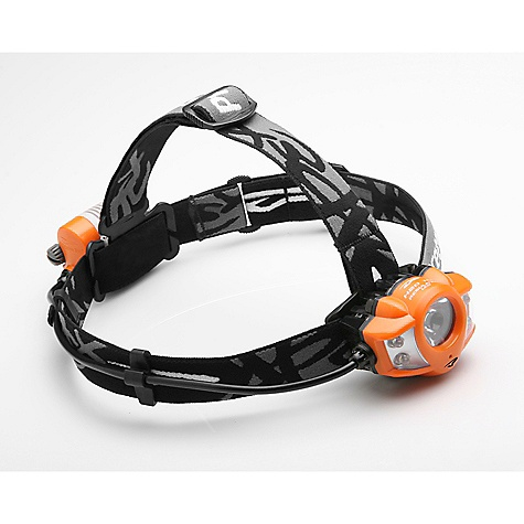 Camp and Hike Free Shipping. Princeton Tec Apex Pro Headlamp DECENT FEATURES of the Princeton Tec Apex Pro Headlamp Waterproof - Level 2: Princeton Tec's intermediate rating, Level 2, is assigned to lights that offer a degree of water protection equivalent to IPX7 in the International Electrotechnical Commission (IEC) standards. Lights rated at Level 2 provide waterproof integrity down to 1 meter for up to 30 minutes. Regulated LED / Constant Brightness: Princeton Tec lights that feature regulated LEDs have a sophisticated regulating circuit that maintains initial brightness as long as the batteries have sufficient voltage. Constant Brightness is a term used to describe products that have regulated LEDs. Multiple Beams: This beam pattern combines focused narrow and focused wide beams to allow for the most versatility. At close range, the focused wide beams simulate normal daylight conditions so you can take advantage of your peripheral vision. The focused narrow beams create a long-throw spotlight ideal for night hiking and search and rescue. Multiple Modes: Multiple settings on many of our products give you the flexibility to adjust your light's brightness and/or beam width to illuminate greater distances or to conserve battery power, depending on your needs. Maxbright LED: The highest quality LED available from Lumileds, Princeton Tec's Maxbright LED is extremely bright and efficient. This single LED emits a smooth, powerful, white light useful for a wide range of tasks. Princeton Tec uses collimators or reflectors with the Maxbright LED depending upon the application. LED Optic Collimator: A collimator gathers all available light from an LED in the form of scattered rays and re-emits the light as parallel rays, making it more optically efficient than a standard reflector. Princeton Tec calibrates each collimator to the type of LED and application of each light. With proprietary optimized collimator / lens systems, Princeton Tec continues to advance LED technology. Heatsink Technology: Princeton Tec has developed proprietary ultralight heatsinks to protect LED products from overheating. Even though LEDs operate at much lower temperatures than traditional incandescent bulbs, they still generate heat. If this heat is not dissipated, the LED will suffer irreversible damage. By using heatsinks, Princeton Tec lights can burn at extreme brightness levels for long periods of time. The heatsink may be incorporated internally or externally depending on the product and its application. Battery Power Meter: The battery power meter provides you with continuous feedback on the condition of the batteries, indicating high, medium or low battery life. This information allows you to make educated decisions about changing batteries or packing spare batteries. 4 Ultrabright LEDs: The highest quality The SPECS Power: 200 Lumens Lamp: 4 Ultrabright LEDs, Maxbright LED Burn Time: up to 35 Hours Batteries: 2 CR123 Lithium (included) Weight: 173 grams The SPECS for 5mm Blink Setting Burn Time: 20 Hours Beam Length: approximately 48 meters Beam Pattern: Wide The SPECS for 5mm High Beam Setting Burn Time: 5 Hours Beam Length: approximately 55 meters Beam Pattern: Wide The SPECS for 5mm Low Beam Setting Burn Time: 12 Hours Beam Length: approximately 30 meters Beam Pattern: Wide The SPECS for Maxbright High Beam Setting Burn Time: 1 Hour Beam Length: approximately 90 meters Beam Pattern: Medium The SPECS for Maxbright Low Beam Setting Burn Time: 7 Hours Beam Length: approximately 60 meters Beam Pattern: Medium - $94.95