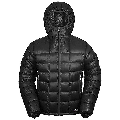 Free Shipping. Rab Men's Infinity Jacket DECENT FEATURES of the Rab Men's Infinity Jacket Pertex Quantum GL inner and outer Stitch-through baffle construction Lycra edged down filled hood 2 YKK zipped hand warmer pockets 1 YKK zipped internal security pocket YKK front zip, mini internal insulated zip baffle, chin guard Elasticated cuffs, hem drawcord Stuff sack Fit: Regular The SPECS Weight: 25g/m2 Comp: 100% nylon 6 Insulation: Fill Power: 850 Insulation: Weight: (L): 7 oz / 210 g Type: European Goose Down Total Weight: 16 oz / 460 g This product can only be shipped within the United States. Please don't hate us. - $325.00