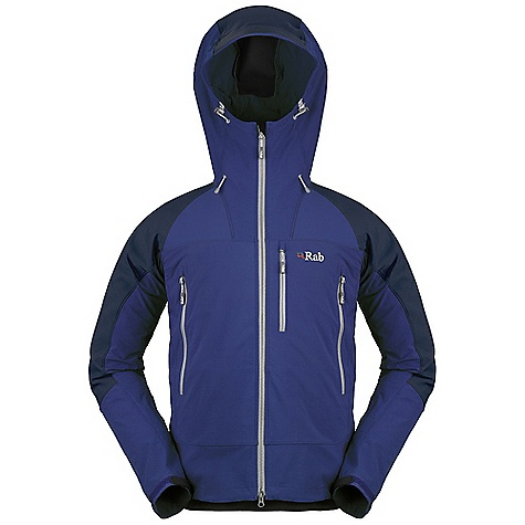 Free Shipping. Rab Men's Scimitar Jacket DECENT FEATURES of the Rab Men's Scimitar Jacket Matrix DWS fabric Helmet compatible hood, wired peak, kitty clip roll down closure YKK 2-way front zip, internal storm flap, chin guard 2 YKK zipped A-line chest pockets 1 YKK zipped Napoleon chest pocket 1 internal YKK zipped security pocket Velcro cuffs, hem drawcord Fit: Slim The SPECS Main Weight: 182g/m2 Contrast Weight: 275g/m2 Main Comp: 90% nylon 66 / 10% spandex Contrast Comp: 46% nylon 66 / 46% polyester / 8% spandex Total Weight: 20 oz / 580 g This product can only be shipped within the United States. Please don't hate us. - $180.00