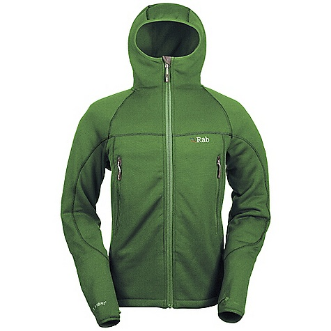 On Sale. Free Shipping. Rab Men's Shadow Hoodie DECENT FEATURES of the Rab Men's Shadow Hoodie Polartec Wind Pro fabric with Hard face Technology Lycra edged under helmet hood YKK front zip, chin guard 2 YKK zipped A-line chest pockets 1 YKK zipped internal mesh pocket Lycra bound cuffs, thumb loops Hem drawcord Flatlock low bulk seams Fit: Slim The SPECS Weight/m2: 298g/m2 Comp: 90% polyester, 10% spandex Total Weight: 23 oz / 660 g This product can only be shipped within the United States. Please don't hate us. - $129.99