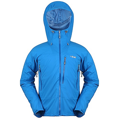 Free Shipping. Rab Men's Volt Jacket DECENT FEATURES of the Rab Men's Volt Jacket Pertex Shield+ 2.5L fabric with stretch Helmet compatible hood, wired peak, kitty clip roll down closure YKK Aquaguard front zip, internal storm flap, rain drain 2 A-line mesh lined YKK Aquaguard zipped chest pockets 1 Napoleon mesh lined YKK Aquaguard zipped chest pocket YKK calendered pit zips Velcro cuffs, hem drawcord Fit: Regular The SPECS Weight/m2: 90 g/m2 Comp: 100% nylon ripstop Total Weight: 13 oz / 360 g This product can only be shipped within the United States. Please don't hate us. - $235.00