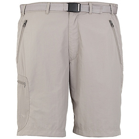 On Sale. Free Shipping. Rab Men's Alpine Trek Short DECENT FEATURES of the Rab Men's Alpine Trek Short Snap waistband closure Zip fly Belt loops Webbing belt, Duraflex push buckle 2 YKK zipped hand warmer pockets, key clip in right pocket 1 YKK zipped thigh pocket Fit: Regular The SPECS Weight: 11 oz / 300 g Length: 10in. / 25 cm Main Weight/m2: 114g/m2 Main Comp: 100% nylon Seat Weight/m2: 171g/m2 Seat Comp: 100% nylon 66 This product can only be shipped within the United States. Please don't hate us. - $44.99
