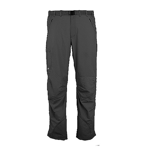 Climbing On Sale. Free Shipping. Rab Men's Alpine Trek Pant DECENT FEATURES of the RAB Men's Alpine Trek Pant Lightweight trouser that is ideal for trekking, summer climbing, scrambling and hill or mountain walking. Lightweight single weave fabric Articulated knees and diamond crotch gusset gives great freedom of movement. UPF 50+ and cordura reinforcement panels add protection from sun The SPECS Constructed from lightweight polyamide soft shell fabric Cordura abrasion resistant panelling Thigh pocket, 2 hand pockets and 1 back pocket, all zipped High back with belt loops Articulated knees for ease of movement Reinforced inseam at hem UPF 50+ Available in leg lengths This product can only be shipped within the United States. Please don't hate us. - $58.99