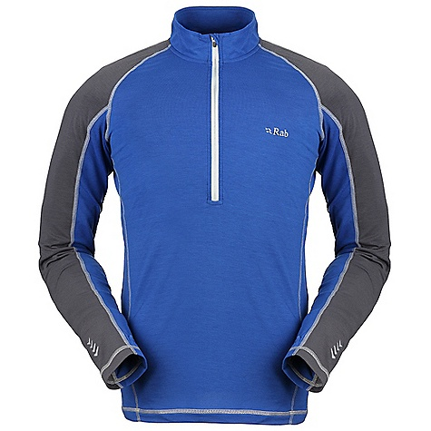 On Sale. Free Shipping. Rab Men's Aeon Plus Zip Tee DECENT FEATURES of the Rab Men's Aeon Plus Zip Tee Flat lock low bulk seams YKK zipped neck, chin guard Thumb loops Fit: Regular The SPECS Weight: 9 oz / 260 g Fabric Weight/m2: 181g/m2 Fabric Comp: 92% polyester, 8% Spandex This product can only be shipped within the United States. Please don't hate us. - $43.99