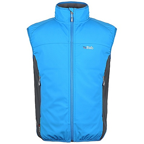 Free Shipping. Rab Men's Baltoro Vest DECENT FEATURES of the Rab Men's Baltoro Vest Polartec Power Shield fabric YKK front zip, internal storm flap, chin guard 2 YKK zipped hand warmer pockets Lycra bound collar, armholes, hem 1 internal YKK zipped security pocket Fit: Slim The SPECS Weight: 206g/m2 Comp: 43% Polyester / 36% Nylon / 6% Spandex / 15% PU face / 100% Polyester back Total Weight: 12 oz / 340 g This product can only be shipped within the United States. Please don't hate us. - $145.00