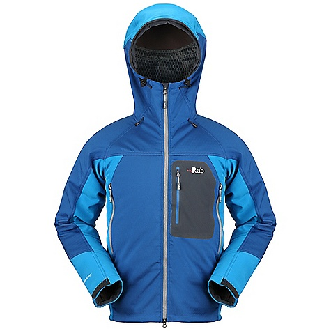 Free Shipping. Rab Men's Baltoro Guide Jacket DECENT FEATURES of the Rab Men's Baltoro Guide Jacket Polartec Power Shield fabric Helmet compatible hood, wired peak 2-way YKK front zip, internal storm flap, chin guard 2 YKK zipped A-line chest pockets 1 YKK zipped bonded chest pocket 1 YKK zipped internal pocket Velcro cuffs, hem drawcord Fit: Regular The SPECS Main Weight: 268g/m2 Contrast Weight: 302g/m2 Main Comp: 26% nylon / 74% polyester Contrast Comp: 16% spandex / 84% polyester Total Weight: 27 oz / 760 g This product can only be shipped within the United States. Please don't hate us. - $300.00