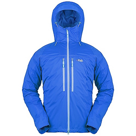 Free Shipping. Rab Men's Vapour-Rise Lite Alpine Jacket DECENT FEATURES of the Rab Men's Vapour-Rise Lite Alpine Jacket Pertex Equilibrium outer fabric Wicking micro fleece drop liner Adjustable hood, wired peak, kitty clip roll down closure 2-way YKK front zip, internal storm flap, chin guard 2 YKK zipped Napoleon chest pockets 1 YKK zipped internal pocket Velcro cuffs, hem drawcord Fit: Slim The SPECS Outer Weight: 49g/m2 Outer Comp: 100% nylon Liner Weight: 60g/m2 Liner Comp: 100% Polyester Total Weight: 13 oz / 360 g This product can only be shipped within the United States. Please don't hate us. - $175.00