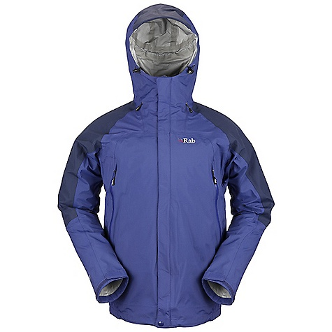 Free Shipping. Rab Men's Bergen Jacket DECENT FEATURES of the Rab Men's Bergen Jacket eVent 3L fabric Hood, wired peak, roll down Velcro tab 2-way YKK Vislon front zip, external and internal storm flap, rain drain 2 YKK Aquaguard zipped A-line chest pockets 1 YKK zipped internal mesh pocket Velcro cuffs, hem drawcord Waist drawcord Fit: Relaxed The SPECS Torso Weight/m2: 129 g/m2 Torso Comp: 100% nylon Arms, Shoulders And Hood Comp Weight/m2: 165 g/m2 Arms, Shoulders And Hood Comp: 100% nylon Total Weight: 19 oz / 535 g This product can only be shipped within the United States. Please don't hate us. - $325.00
