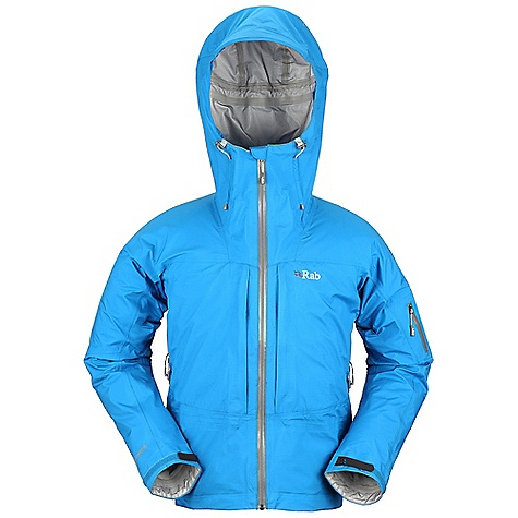 Ski Free Shipping. Rab Men's Kickturn Jacket DECENT FEATURES of the Rab Men's Kickturn Jacket eVent 3L fabric Ski helmet compatible hood, EVA foam, wired peak, kitty clip roll down closure YKK Aquaguard front zip, internal storm flap, rain drain Tricot lined collar 2 YKK zipped Napoleon chest pockets, storm flaps, mesh lining Venting underarm pit zips, YKK calendered zips 1 YKK Aquaguard zipped arm pocket Fixed lightweight stretch mesh snowskirt Articulated sleeves Velcro cuffs, hem drawcord Fit: Regular The SPECS Weight/m2: 112 g/m2 Comp: 100% nylon Total Weight: 20 oz / 560 g This product can only be shipped within the United States. Please don't hate us. - $400.00
