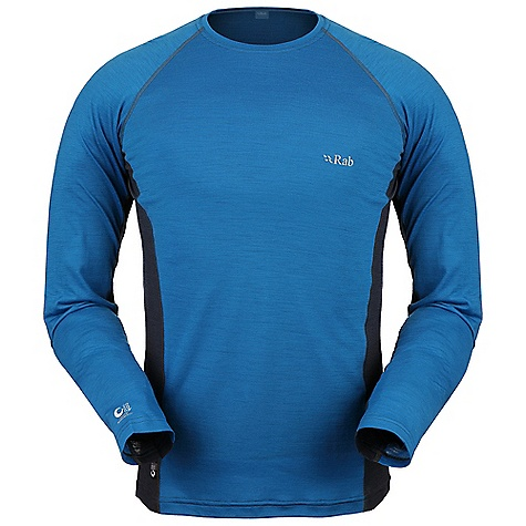 Free Shipping. Rab Men's MeCo 120 LS Tee DECENT FEATURES of the Rab Men's MeCo 120 Long Sleeves Tee Merino Cocona fabric Flatlock low bulk seams Reflective branding Fit: Slim The SPECS 120gsm intimate blend of Merino Cocona polyester yarns (65% Merino / 35% Cocona) Total Weight: 6 oz / 160 g This product can only be shipped within the United States. Please don't hate us. - $85.00