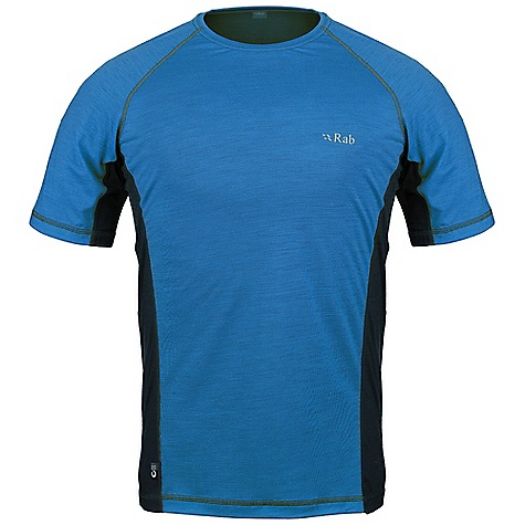 Free Shipping. Rab Men's MeCo 120 Tee DECENT FEATURES of the Rab Men's MeCo 120 Tee Merino Cocona fabric Flatlock low bulk seams Reflective branding Fit: Slim The SPECS 120gsm intimate blend of Merino Cocona polyester yarns (65% Merino / 35% Cocona) Total Weight: 4 oz / 120 g This product can only be shipped within the United States. Please don't hate us. - $65.00