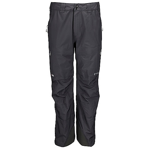 Free Shipping. Rab Men's Kickturn Pants DECENT FEATURES of the Rab Men's Kickturn Pants eVent 3L fabric Cordura fabric kick patches Side thigh vents with YKK Aquaguard zips YKK calendered fly zip with snap hook and eye closure Belt loops 2 thigh pockets with YKK calendered zips, storm flaps, mesh lining Articulated reinforced knees Hem drawcord Internal fixed gaiter Fit: Relaxed The SPECS Inside Leg Length: (L): 32in. / 81 cm Main Weight/m2: 112 g/m2 Main Comp: 100% nylon Kick Patches Weight/m2: 171 g/m2 Kick Patches Comp: 100% nylon Total Weight: 15 oz / 420 g This product can only be shipped within the United States. Please don't hate us. - $325.00