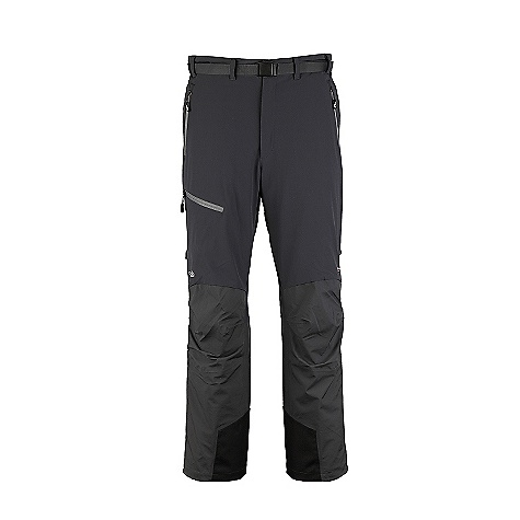 Free Shipping. Rab Men's Fusion Pants DECENT FEATURES of the Rab Men's Fusion Pants 2 YKK calendered  3/4 side zips Additional zip heads allow venting Waistband snap closure Tricot lined waistband YKK zip fly Belt loops, webbing belt with slimline buckle 2 YKK calendered handwarmer pockets 1 YKK calendered thigh pocket Brace attachment points Reinforced kick patches Taped seams (NeoShell to NeoShell) Knee articulation Reflective trim Inside leg length 81cm/32inch (on all sizes) Fit: Regular The SPECS Weight: 18 oz / 520 g Hood, Shoulders, Upper Sleeves and Seat Weight/m2: 136g/m2 Hood, Shoulders, Upper Sleeves and Seat Comp: 100% nylon face, 100% polyester back Torso Weight/m2: 182g/m2 Torso Comp: 90% nylon 66, 10% spandex This product can only be shipped within the United States. Please don't hate us. - $274.95