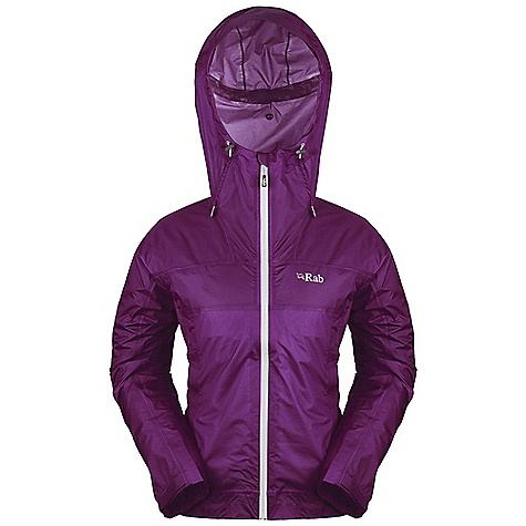Free Shipping. Rab Women's Kinetic Jacket DECENT FEATURES of the Rab Women's Kinetic Jacket Pertex Shield+ 2.5L fabric Helmet compatible hood, kitty clip roll down closure YKK Aquaguard front zip, double internal storm flaps 2 YKK zipped welted, mesh lined A-line pockets, left side doubles as integrated stuff sack Velcro cuffs, half hem drawcord Reflective trim Fit: Regular The SPECS Weight/m2: 55 g/m2 Comp: 100% nylon ripstop Total Weight: 8 oz / 220 g This product can only be shipped within the United States. Please don't hate us. - $184.95