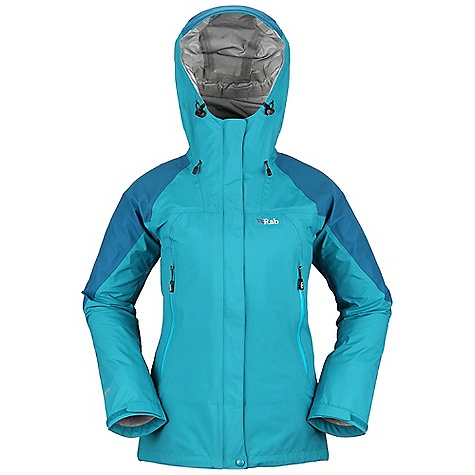 Free Shipping. Rab Women's Vidda Jacket DECENT FEATURES of the Rab Women's Vidda Jacket eVent 3L fabric Hood, wired peak, roll down Velcro tab 2-way YKK Vislon front zip, external and internal storm flap, rain drain 2 YKK Aquaguard zipped A-line chest pockets 1 YKK zipped internal mesh pocket Velcro cuffs, hem drawcord Waist drawcord Fit: Relaxed The SPECS Torso Weight/m2: 129 g/m2 Torso Comp: 100% nylon Arms, Shoulders And Hood Comp Weight/m2: 165 g/m2 Arms, Shoulders And Hood Comp: 100% nylon Total Weight: 16 oz / 465 g This product can only be shipped within the United States. Please don't hate us. - $325.00