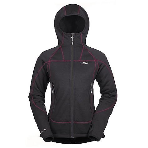 Free Shipping. Rab Women's Shadow Hoodie DECENT FEATURES of the Rab Women's Shadow Hoodie Polartec Wind Pro fabric with Hardface Technology Lycra edged under helmet hood YKK front zip, chin guard 2 YKK zipped A-line chest pockets 1 YKK zipped internal mesh pocket Lycra bound cuffs, thumb loops Hem drawcord Flatlock low bulk seams Fit: Slim The SPECS Weight: 298g/m2 Comp: 90% polyester, 10% spandex Total Weight: 18 oz / 500 g This product can only be shipped within the United States. Please don't hate us. - $200.00